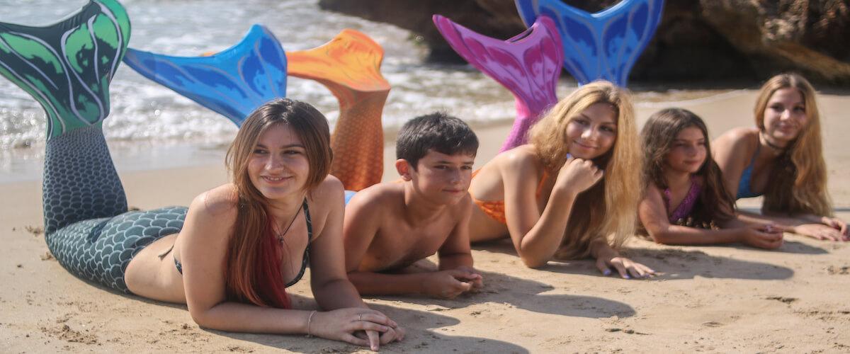 sirenas y tritones barcelona mar